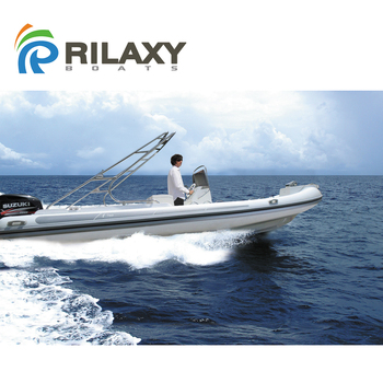 CE certificated 25ft fiberglass hull inflatable yacht