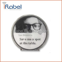 small size flexible round epaper 1.1'' e ink display for smart watch