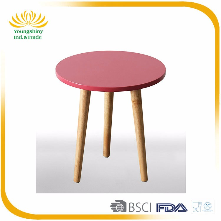 Colorful Customized wooden side table