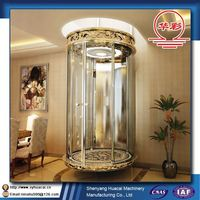 HC Luxury 360deg Indoors CE factory cost commercial elevator