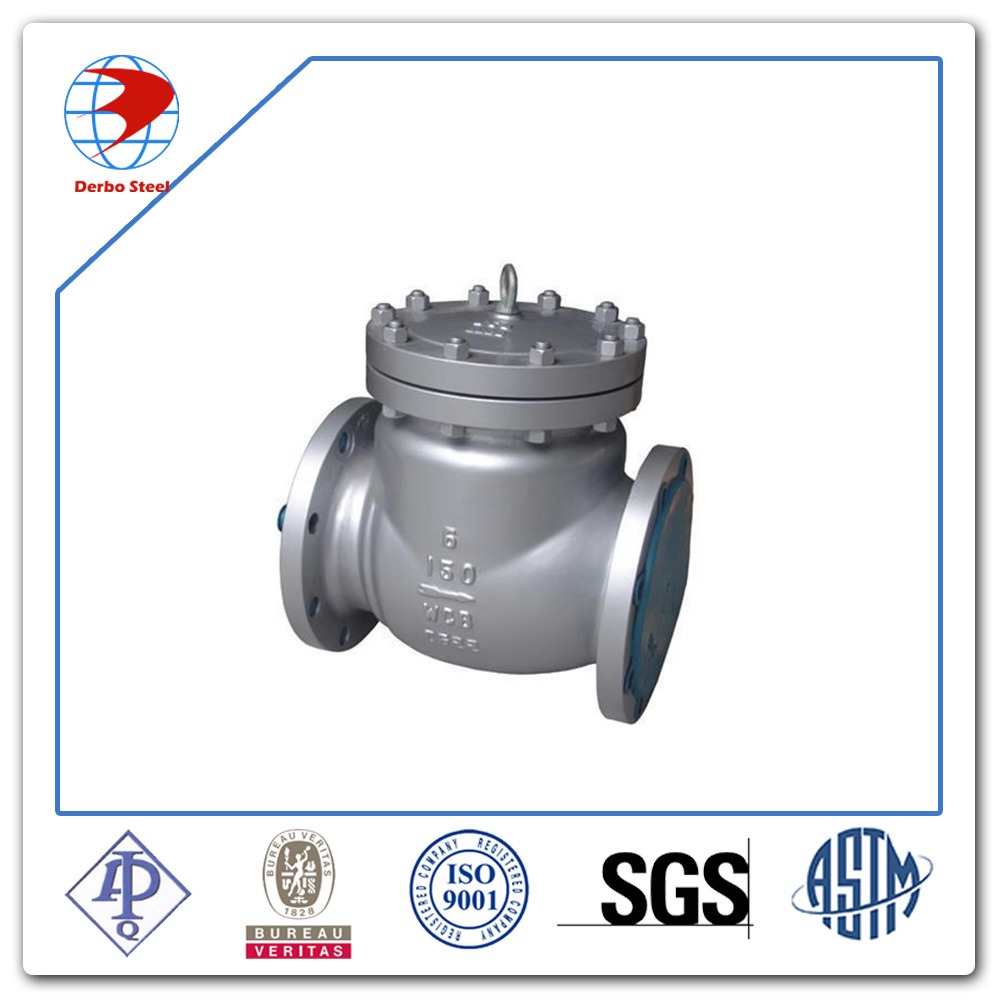 API 600 Cast Steel A216 WCB Class 150 Flanged End Swing Check Valve