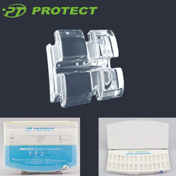 Supply for Orthodontic clear/sapphire ceramic braces dental