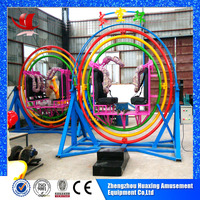 Indoor playground amusement used children rides human gyroscope for sale