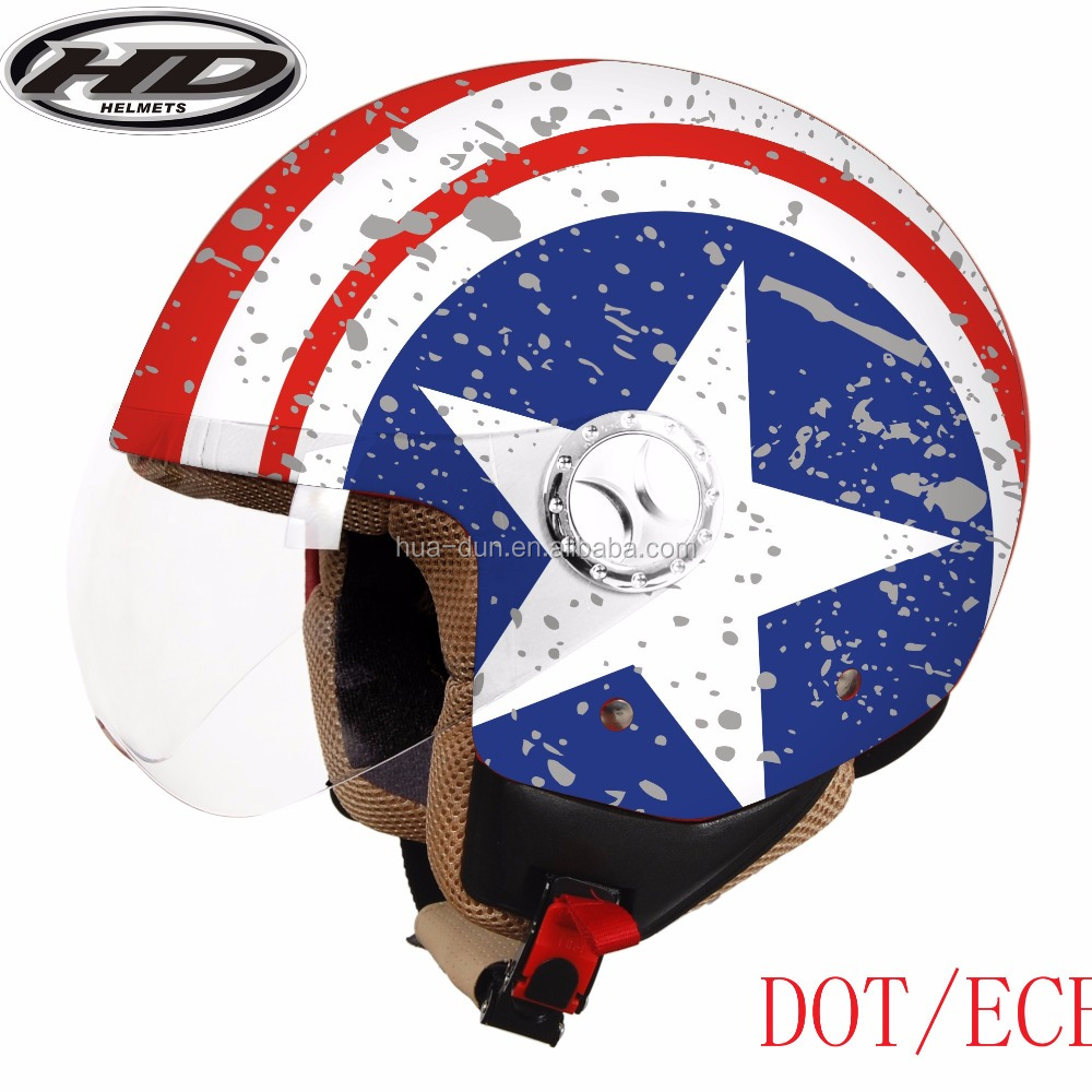 HD ece/dot scooter open face helmets ,jet helmet HD-592