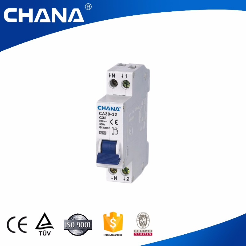 CA30-32 3KA DPN type 1P+N mini electrical mcb switch circuit breaker
