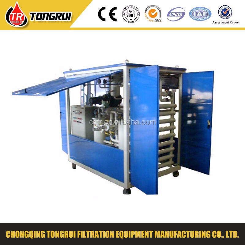 black transformer oil cleaning system/waste lube oil recovery machine