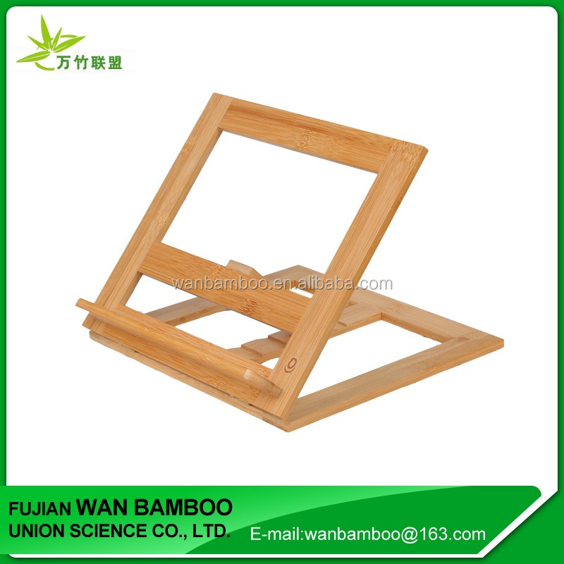 Chinese Adjustable Bamboo Tablet Stand for 13 inch Tablet Pc