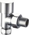 Angle Radiator Valves Chrome Lockshield
