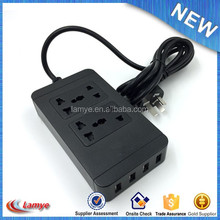 4 round pin plug Electrical charging socket european 4USB, with CE FCC high quality