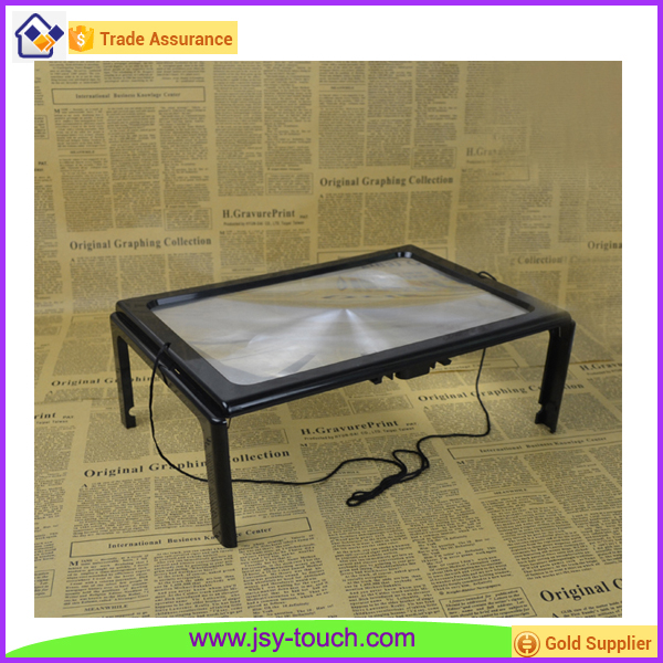 4 LED Lights Foldable Table Stand Reading Magnifier for Elderly