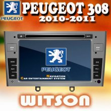 WITSON car double din gps for PEUGEOT 308 with USB port and iPod ready