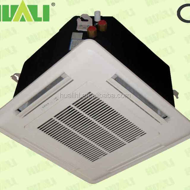 2015 high quality chilled water commercial ceiling cassette type air conditioner fan coil unit