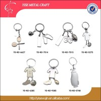 Metal Football Key Chain/ Sport Ball Key Holder / Printing Metal Key Ring