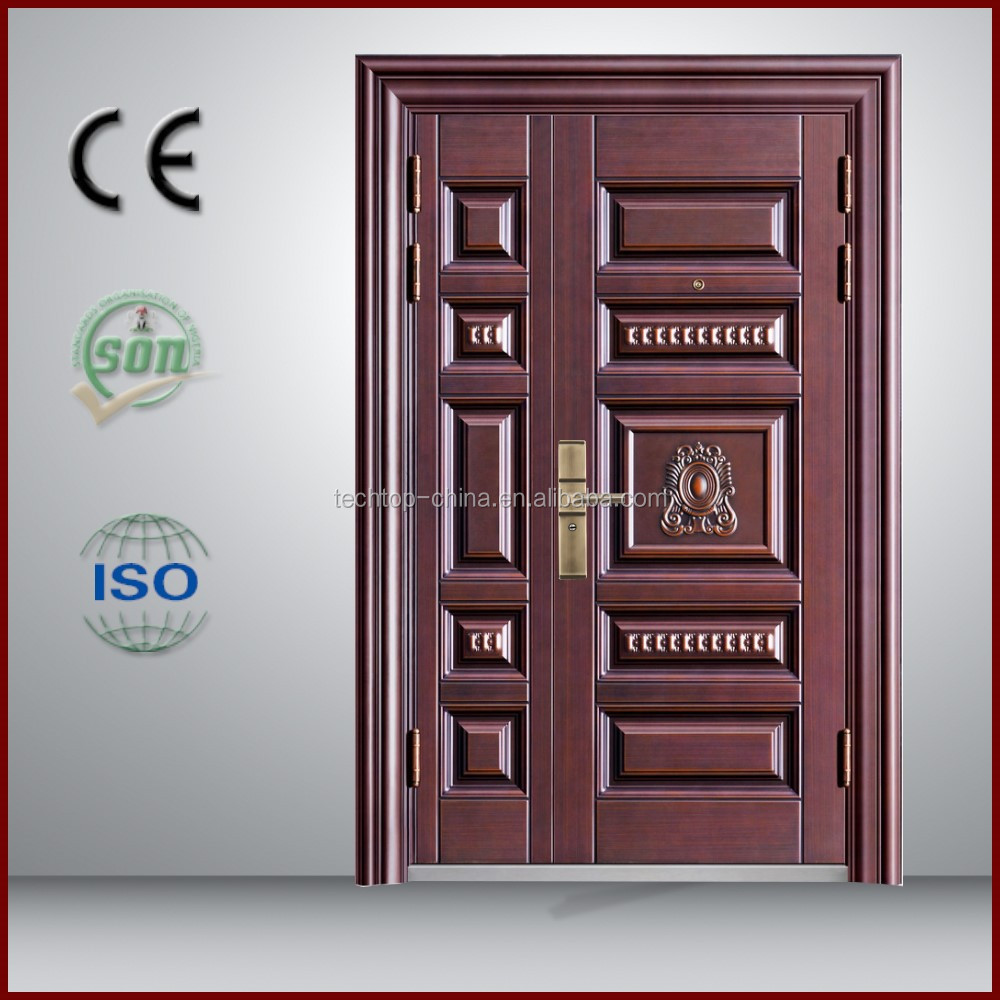 TOP QUALITY beautiful red color metal fire rated glass door/ul listed fire door