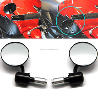 Universal aluminum alloy CNC rearview Kick accessories scooter Handle Bar End mirror for motorcycle yamaha piaggio vespa hyosung