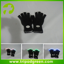 Black Color Flashing LED Gloves with LED Light