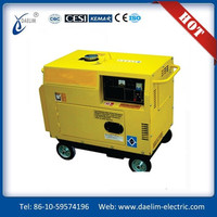 low emission! 5kva silent diesel generator set With deep sea controller