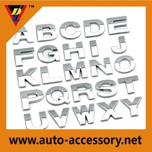 Customized 3d letters & numbers chrome silver car letters
