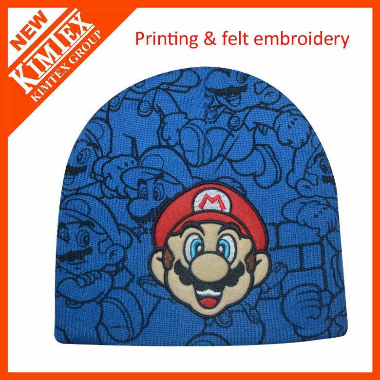 hot sales kids 100% acrylic knitted winter hat beanie hat