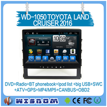 10.1'' CAR TAXI TRACKER GPS navigation for TOYOTA LAND CRUISER 2016 touch screen quality bluetooth wifi car dvd radio Quad core