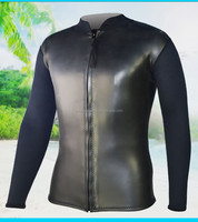 3/2MM custom surfing wetsuit top smooth skin neoprene jacket