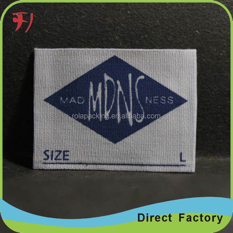 Eco-friendly double side damask satin label customized printing satin label