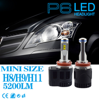 Car accessories P6 LumiLEDs MZ 10400lm Car LED Headlight Bulb Fog Light DC11-30v automobile & motorcycles