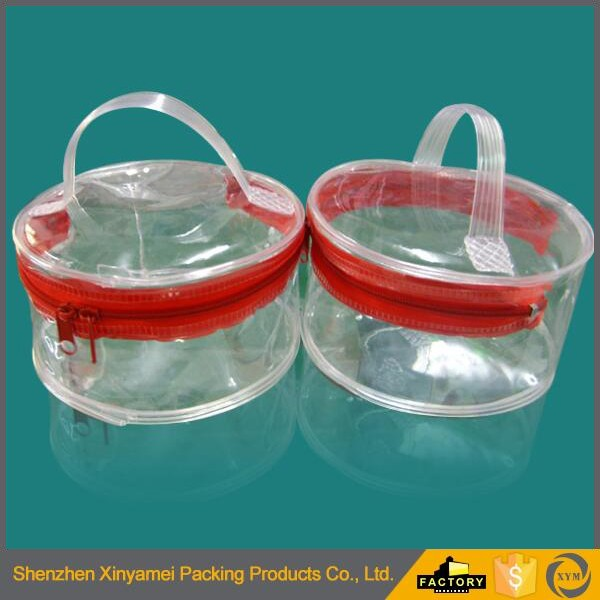 custom size clear frosted CD plastic packaging bags