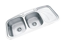 960*460mm double bowl welding stainless steel kitchen sink