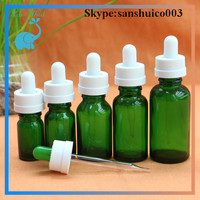 green glass bottle 30ml with child resistant cap for vapor juice