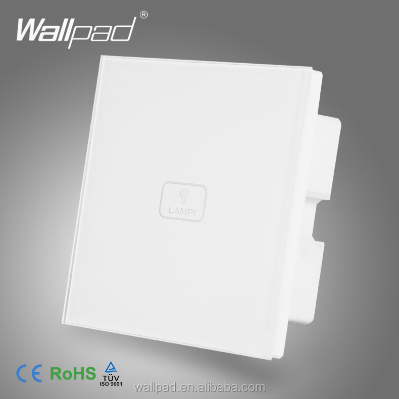 New Design Wallpad White Crystal Switch 1 Gang Touch Screen Sensor Micro Switch