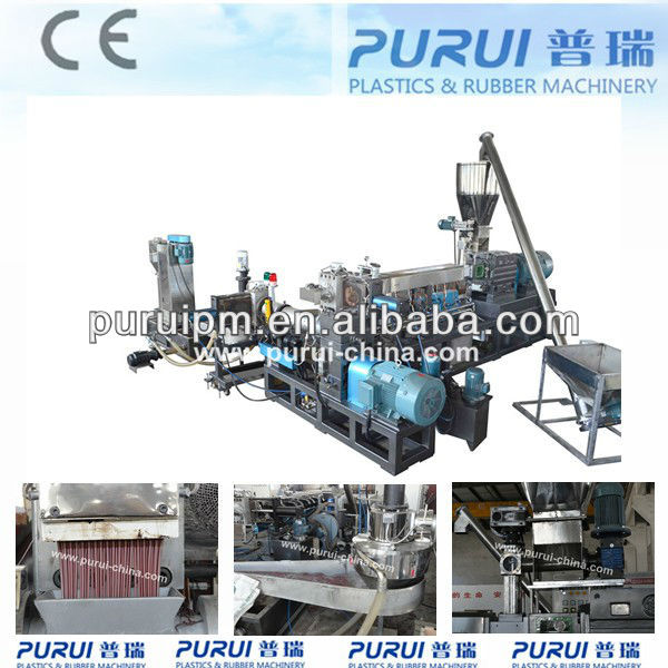 PP woven bags plastic recycling granulator machine line