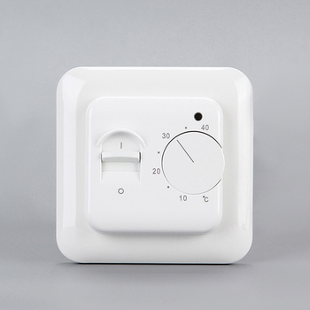 Comfortable manual switch and knob built-in floor sensor room thermostat for protecting the floor