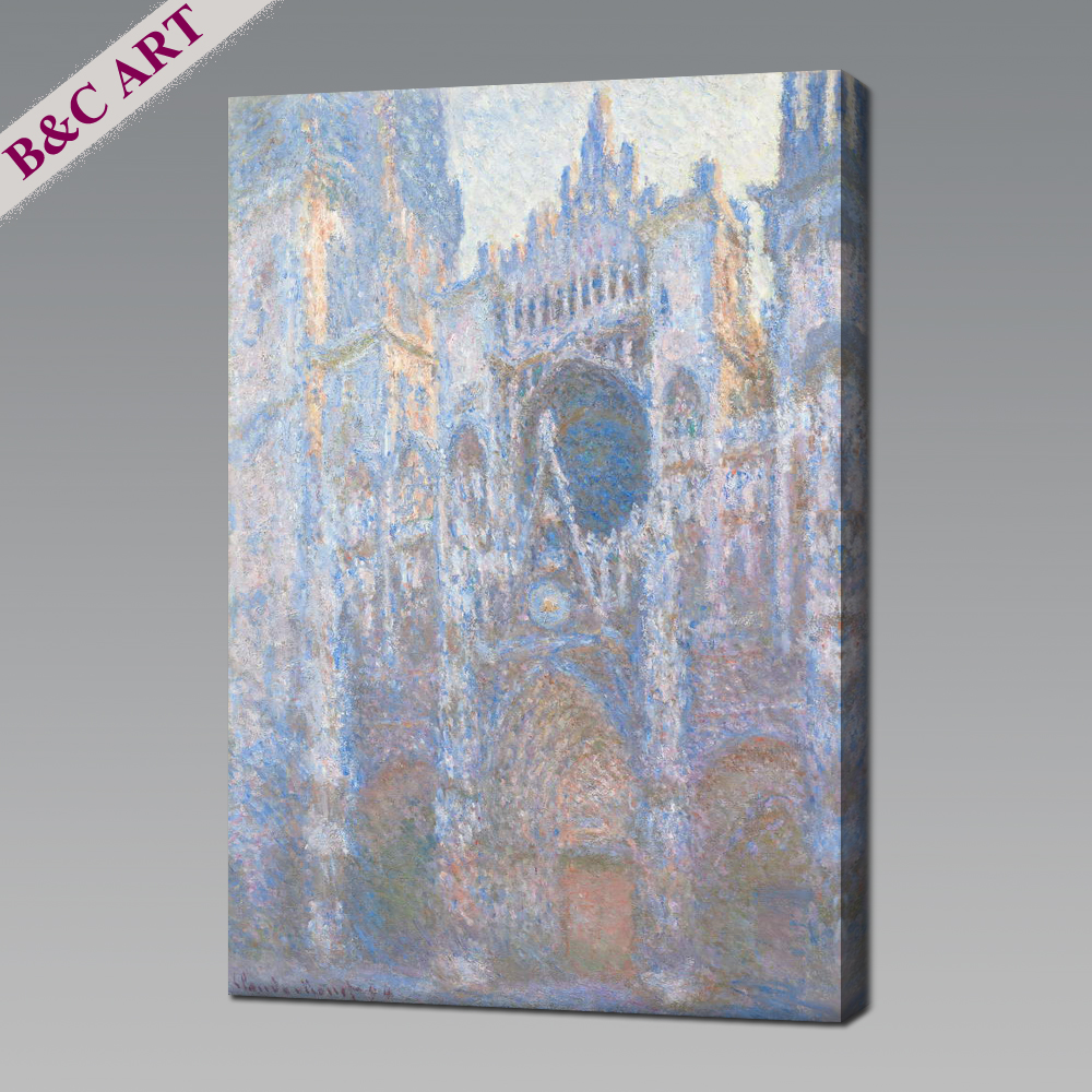 Old Master Rouen Cathedral Grey Weather Impressionist Oil Paintings For Hotel Lobby