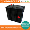 9600Wh home backup energy station with solar and AC grid charging port
