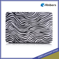 for Apple Macbook Zebra-stripe Printed Hard PU Leather Case Cover ODM Service High Quality