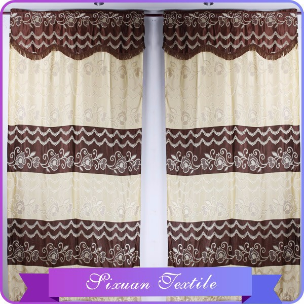 2016 Classical Lace Valanced Crochet Lace Curtains To South America in China Supplier