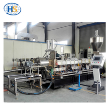 Hot-cut pelletizing twin screw extruder pvc granules making machine