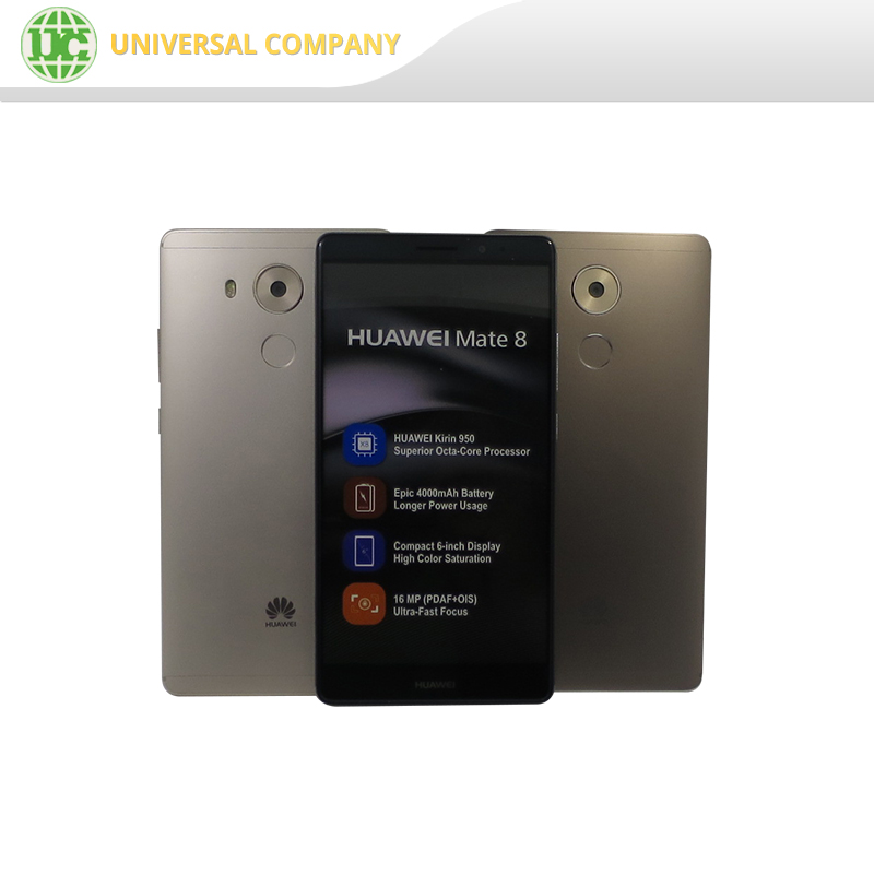 6.0 Inches original mobile phone Quad-core 32GB/64GB 16MP anti-shake camera lens Huawei Mate 8