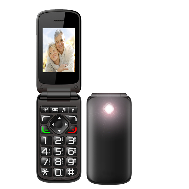 New Launch vkworld Z2 SC6531 2.4inch Cell Phone Unlocked Support Multi-Language with SOS button Elder Easy Use Flip Phone