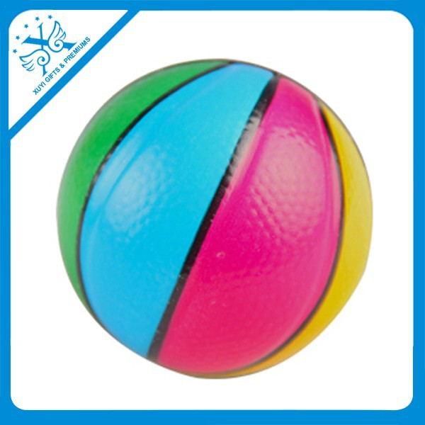 Puffer ball toys shape changing ball toy colored styrofoam balls pu basketball stress toy