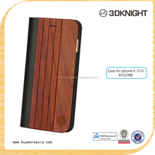 2015 handmade natural wooded flip cover mobile phone case for iPhone