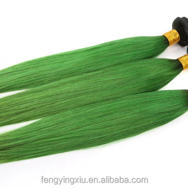 2017 hot sales peruvian hair green colour expensive human hair weaves for best lady