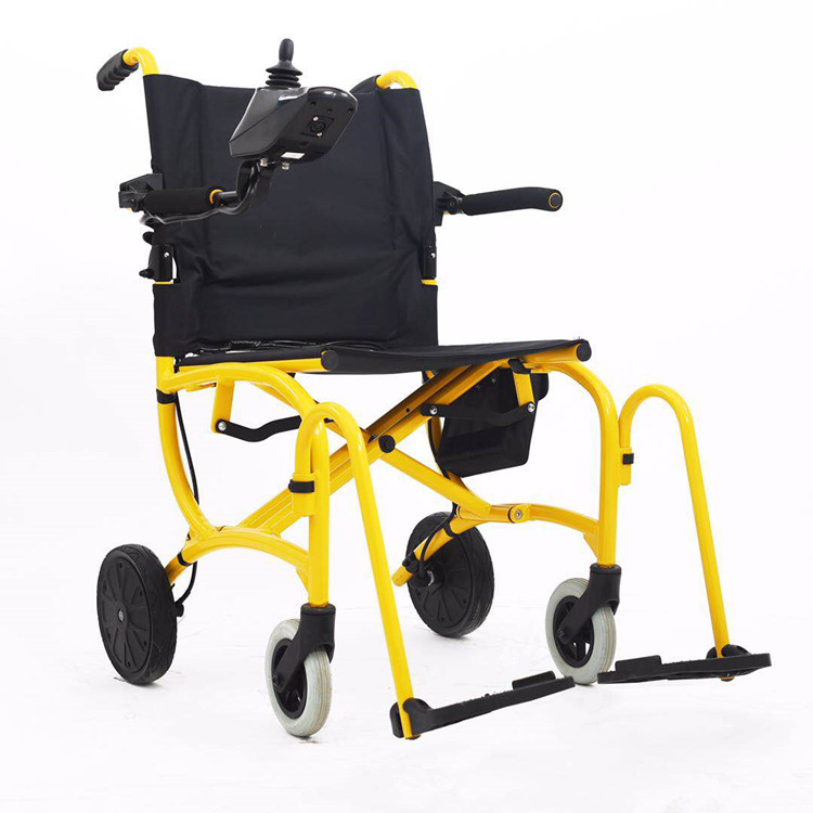 Foldable power motor electric wheelchair with 24V 10Ah lithium battery
