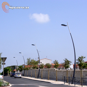 outdoor furniture bespoke ARC shape led street light pole