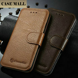 Brown pouch genuine/real leather phone case, mobile phone case for iphone 6s,for iphone 6s leather case