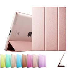 Pu leather Slim design sleep/wake fuction JOY COLOR tablet case/cover for Ipad 2/ipad3/ipad4
