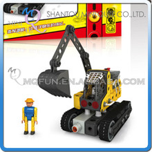MINI QUTE Electronic excavator Iron commander metal connect puzzle Assembly DIY building blocks kid educational toys NO.816j-1A