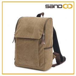 New products Sandoo bags best fashion backpack canvas, canvas leather backpack