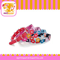 Cute and flower decoration Puppy Dog Collar